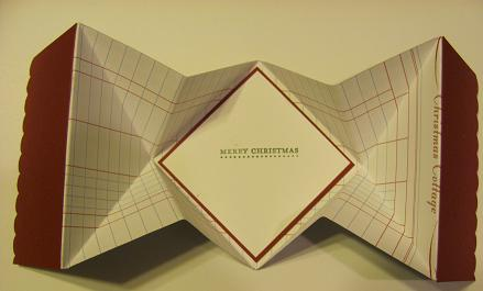 Christmas Lodge Pop Up card 004