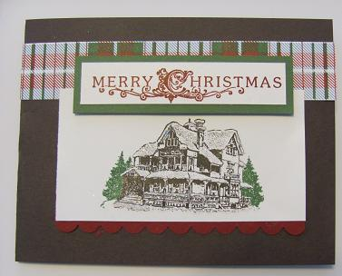 Christmas Lodge CAS