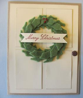 Winter Wishes stitiched felt door 002