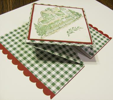 Christmas Lodge Pop Up card 002