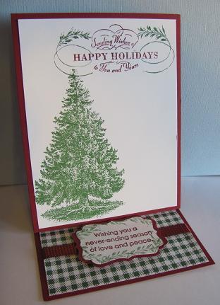 Christmas Lodge Easel Card 001
