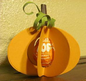 Pumpkin tootsie pop