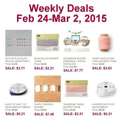 Weekly Deals to march 2