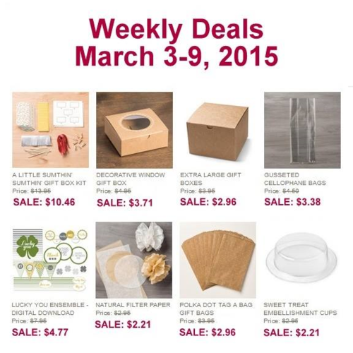 Weekly Deals March 3
