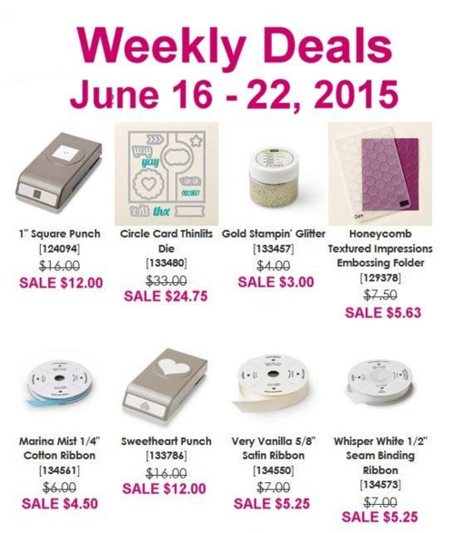 Weekly deals June 16 June 22nd