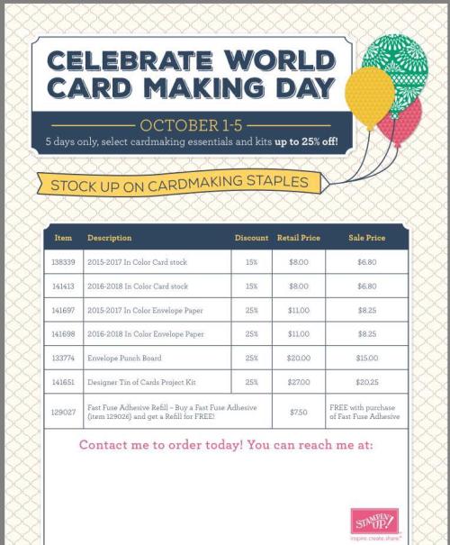 World Cardmaking Day specials