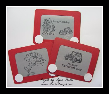 Etch a Sketch cards