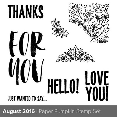 Paper Pumpkin August stamp set