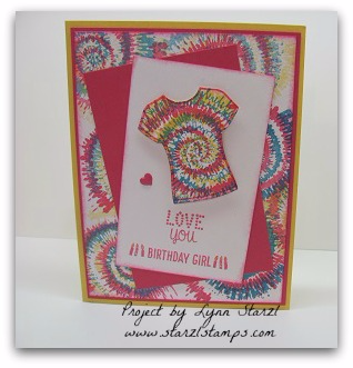 Tie Dyed Card