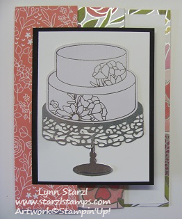 Cake Soiree Tri Fold Card