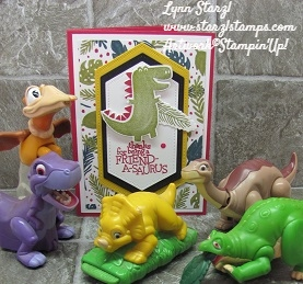 Dino Days Shadowbox card front