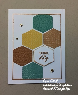 Hexagon card Flowers for Every Season dsp wm