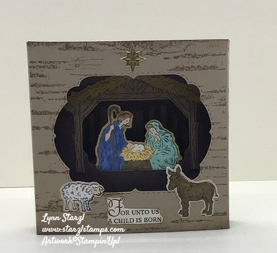 Diorama Peaceful Nativity Birch