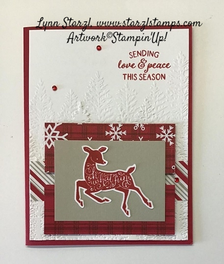 Peaceful Deer stamped