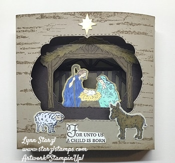 Diorama Peaceful Nativity